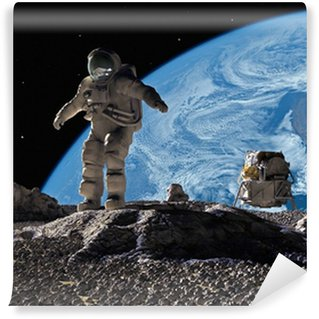 The astronauts Wall Mural - Vinyl