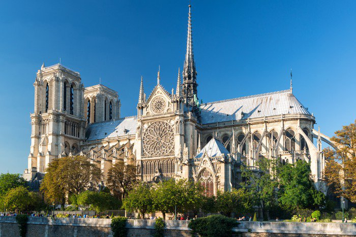 Wall Mural   Vinyl The Cathedral Of Notre Dame De Paris   Themes
