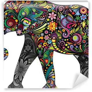 Wall Mural - Vinyl The cheerful elephant