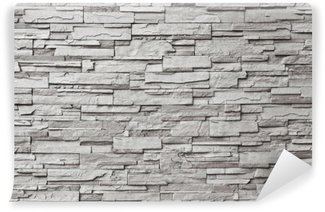 Wall Mural - Vinyl The gray modern stone wall