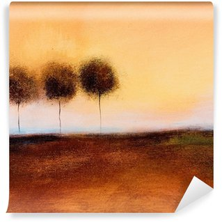 Vinyl Wall Mural this is an abstract painting of 3 trees