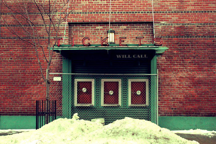 Captivating Wall Mural   Vinyl Ticket Booth, Fenway Park   America Part 32