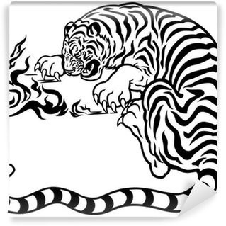 Black And White Tiger on contemporary industrial office