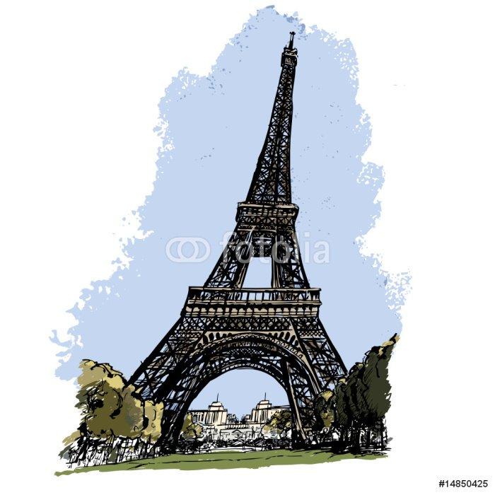 Wall Mural - Vinyl Tour Eiffel in Paris - iStaging 2