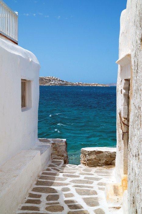 Traditional Greek House traditional greek house on mykonos island, greece vinyl wall mural
