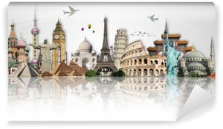 Travel the world monuments concept Wall Mural - Vinyl