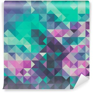 Triangle background, green and violet Wall Mural - Vinyl