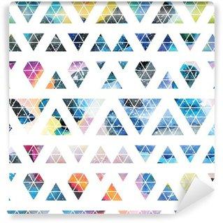 Vinyl Wall Mural Tribal galaxy seamless pattern.