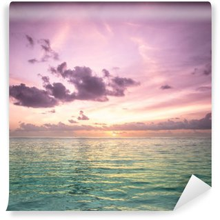 Tropical blue sea water in Maldives Wall Mural - Vinyl