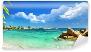 Vinyl Wall Mural tropical holidays in paradise of Seychelles islands