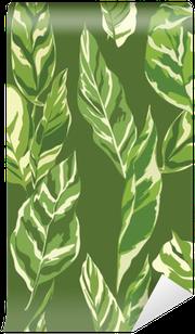 Tropical Leaves Background - Vintage Seamless Pattern Wall Mural - Vinyl