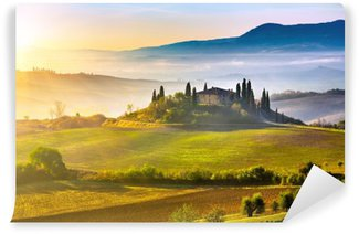 Tuscany at sunrise Wall Mural - Vinyl