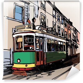 Wall Mural - Vinyl typical tramway in Lisbon