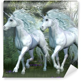 Vinyl Wall Mural Unicorn Elm Forest