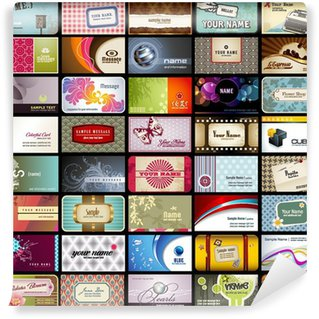 Wall Mural - Vinyl variety of 40 horizontal business cards on different topics