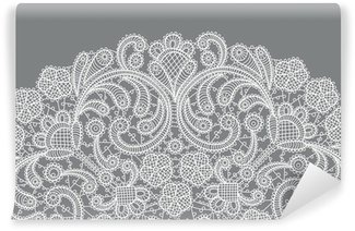 vector background with lace ornament Wall Mural - Vinyl