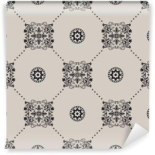 Wall Mural - Vinyl Vector damask seamless pattern background