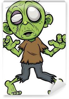 Wall Mural - Vinyl Vector illustration of Cartoon zombie
