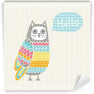 Vector illustration with colorful owl