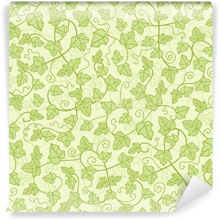 Vector ivy plants seamless pattern background with hand drawn