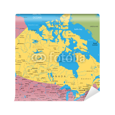 Vector Map Of Canada And Alaska Wall Mural Pixers We Live To - Map of canada and alaska