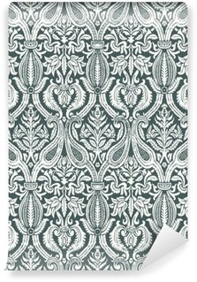 Vector seamless floral damask pattern vintage abstract backgroun
