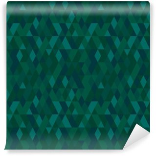 Vector seamless mosaic of emerald color. Abstract endless background. Use for wallpaper, pattern fills, textile, webpage buckground