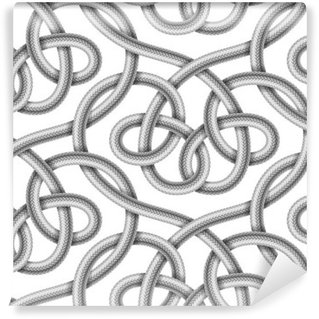 Vector seamless pattern of braided cable Wall Mural - Vinyl