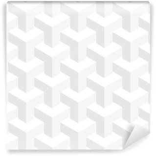 Vector unreal texture, abstract design, illusion construction, white background Wall Mural - Vinyl