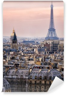 Wall Mural - Vinyl View of Paris and of the Eiffel Tower from Above