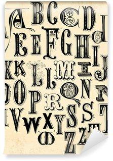 Vinyl Wall Mural Vintage Alphabet
