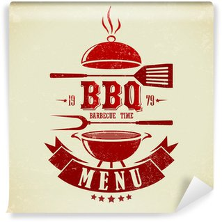 Wall Mural - Vinyl Vintage BBQ Grill Party
