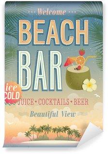 Wall Mural - Vinyl Vintage Beach Bar poster.