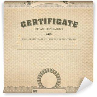Wall Mural - Vinyl vintage certificate template with headline