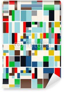 Vintage Hipster Geometric Pattern In Tetris Style Vector Wall Mural - Vinyl