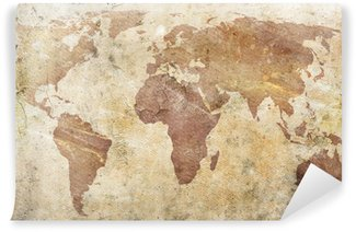 Wall Mural - Vinyl vintage map of the world