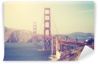 Vintage toned picture of the Golden Gate Bridge Vinyl Wall Mural