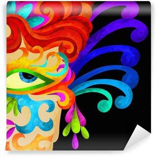 Wall Mural - Vinyl viso con decorazioni di carnevale