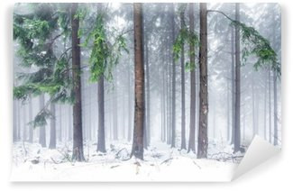 Wald im Winter Wall Mural - Vinyl