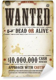 Wall Mural - Vinyl Wanted Vintage Western Poster