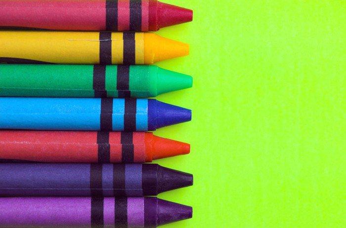 Wall Mural - Vinyl Wax Crayons - Games