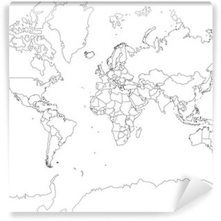 Weltkarte wall mural pixers we live to change weltkarte world map outline vinyl wall mural gumiabroncs Image collections