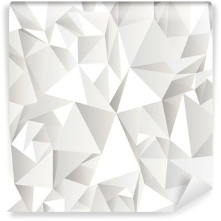 Wall Mural - Vinyl White crumpled abstract background