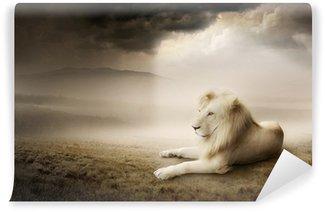 White lion at sunset Wall Mural - Vinyl