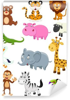 Wild animal cartoon collection set Wall Mural - Vinyl
