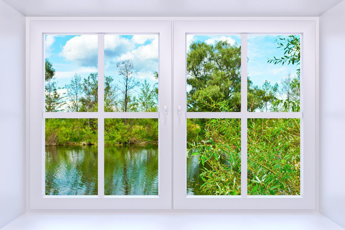 window to nature vinyl wall mural pixers we live to. Black Bedroom Furniture Sets. Home Design Ideas