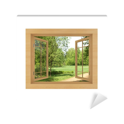 window view isolated on a white wall mural pixers we live to change. Black Bedroom Furniture Sets. Home Design Ideas