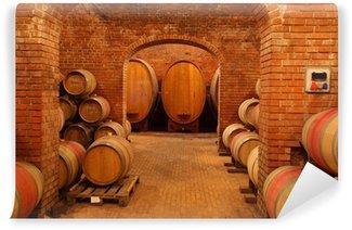 Wall Mural - Vinyl Wine barrels
