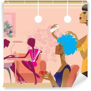 women in a beauty salon Wall Mural - Vinyl