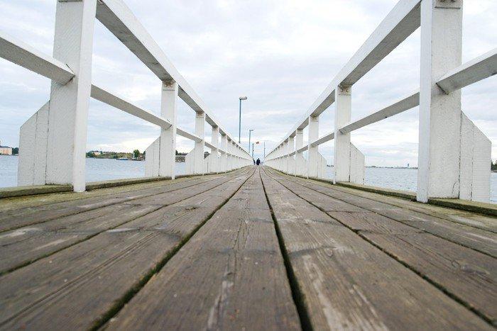 Wooden bridge in Helsinki